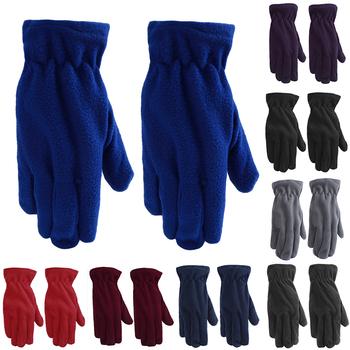 Zimowe damskie rękawiczki nadgarstek pełne mitenki polarowe pluszowy jednokolorowy kolor moda kobiece ciepłe rękawiczki 8 kolorów tanie i dobre opinie Bigsweety Dla dorosłych CN (pochodzenie) WOMEN Poliester Stałe Gloves