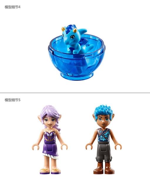 BELA 10549 Fairy Elves The Dragon Sanctuary Building Blocks Sets Gift Toys Compatible with Legoinglys Elves 41178 4