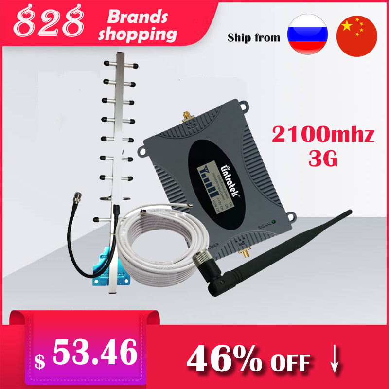 Lintratek 3G UMTS 2100 mhz amplificateur de répéteur de Signal de téléphone cellulaire Booster 2100 65dB Kit complet pour voix 3G et données 3G #8