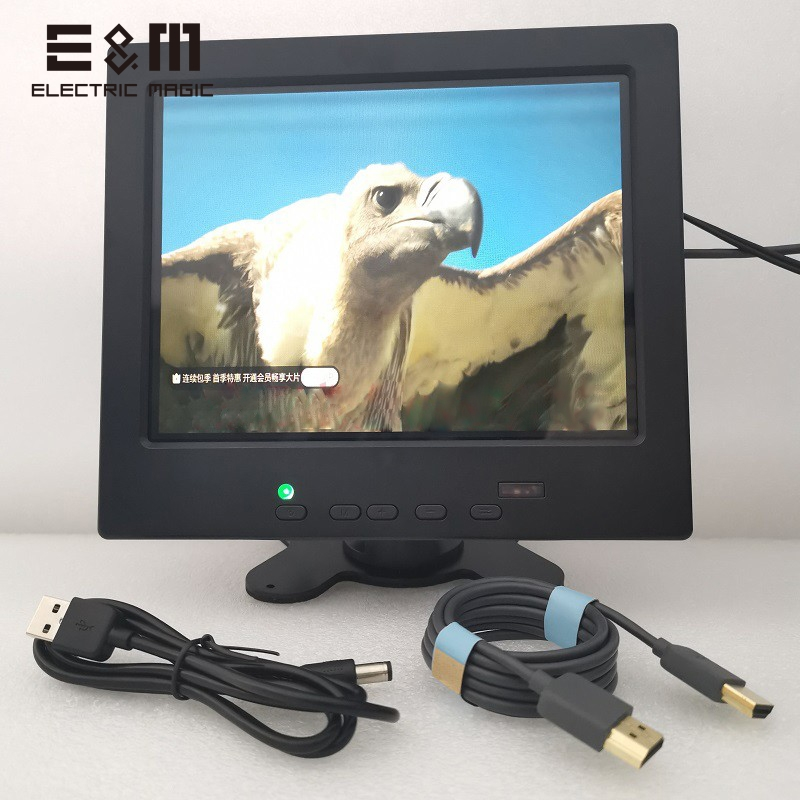 8 Inch 1024*768 IPS Portable Monitor TFT-LCD Display Driving Board With 1080P HDMI VGA AV1 AV2 Screen For Raspberry Pi Model 4