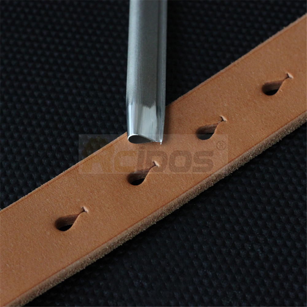 RCIDOS 5x9mm/5x11mm Manual DIY Leather Fish Shape Hole Puncher,Fish Tail Hole Design Leather Belt Hole Cutter,Japan DC53 Steel