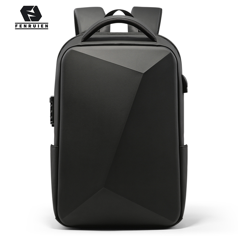 Fenruien 2020 NEW Business Anti-theft TSA Lock Men Backpack USB Charging Waterproof 15.6 Inch Laptop Bag Men Travel Bag