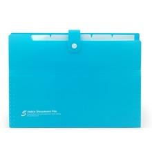 Deli 5 шт. папка для файлов organ Bag A4 бумага для органайзера держатель A4 размер папка для документов офисные школьные принадлежности(случайный цвет