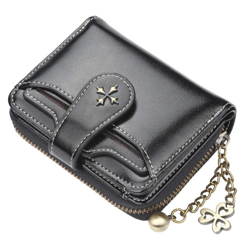 Qualidade superior carteira feminina curto bolsa do vintage carteiras femininas ferrolho moeda bolsas titular do cartão cartera mujer WWS266-2
