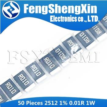 50PCS 2512 SMD Resistor 1% 1W 0.01R 0.01 ohm 10mR 25121WJ010LT4E 0.01E 0.01Ω 0R01 010L R010 - sale item Passive Components