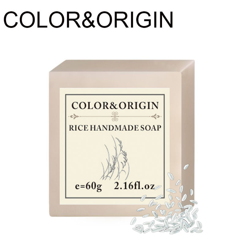 Color&Origin Rice Handmade Soap Skin Whitening Essential Oils Hand Soap Natural Herbal Aroma Soap Deep Cleansing Acne Treatment image