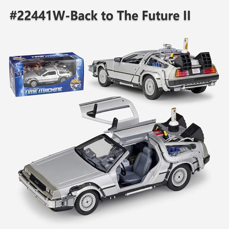 Welly 1:24 aloi model kereta DMC-12 Mesin masa DeLorean dari Back to - Kereta mainan - Foto 4