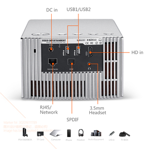 Image 5 - AUN Full HD projektör J20, 1920*1080P, Android WIFI, 10000mAH pil, taşınabilir DLP projektör. Destek 4K 3D Beamer