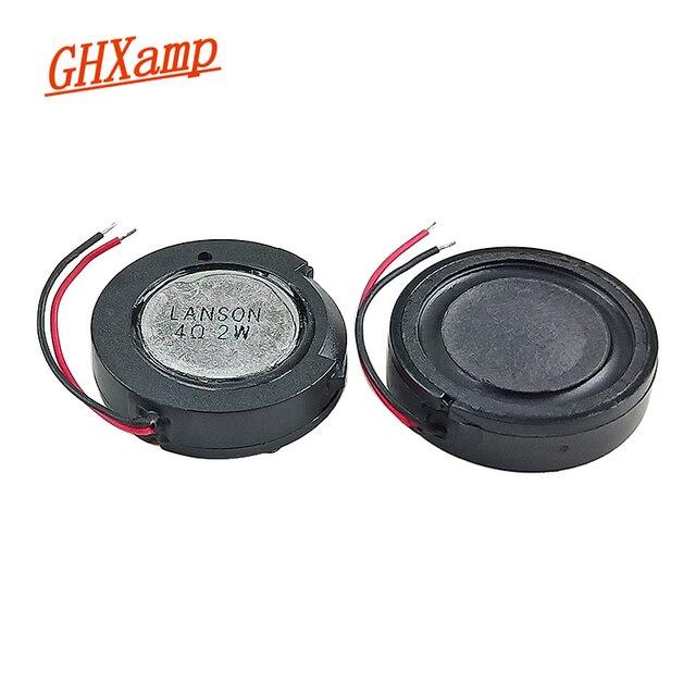 GHXAMP 24mm 1 pouce Woofer haut parleur unité 4ohm 2W Mini haut parleur bricolage pour navigateur voix haut parleurs numériques 2 pièces