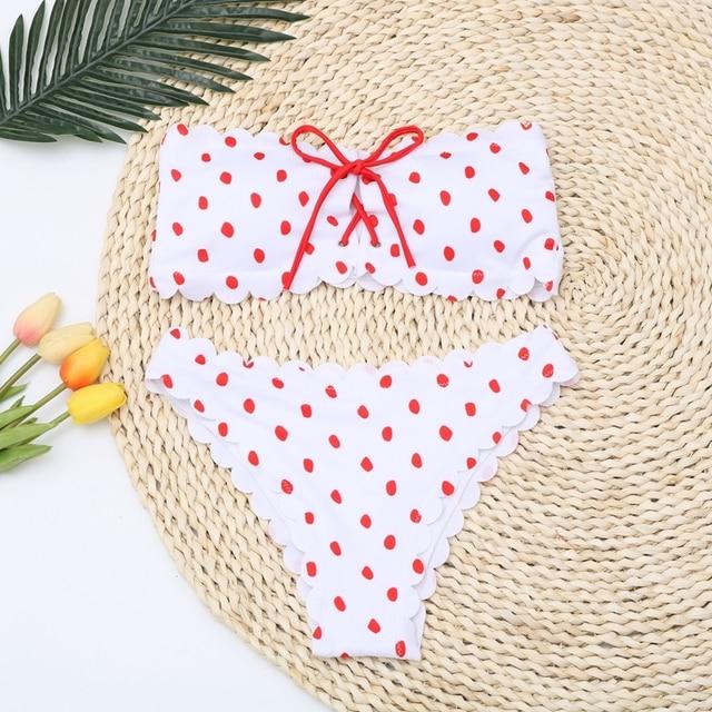 Red Polka Dot Bikini 4