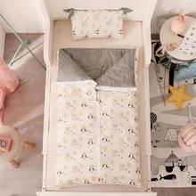 Детское пуховое одеяло, детское хлопковое стеганное одеяло спальный комплект для младенца, Детские чехлы с принтом, удобные съемные BXX015