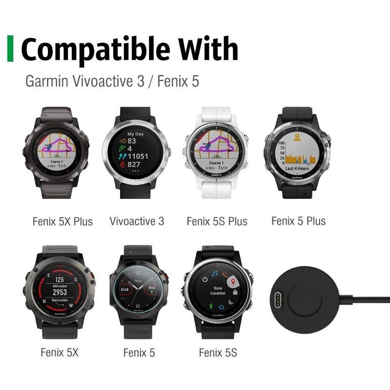 Ladestation Kompatibel mit Garmin Vivoactive 3 4S //3 Music//Fenix 6 6X Pro 5 5S