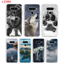 Silicone Cover Wolf Animal for LG W30 W10 V50S V50 V40 V30 K50S K40S K30 K20 Q60 Q8 Q7 Q6 G8 G7 G6 ThinQ Phone Case(China)