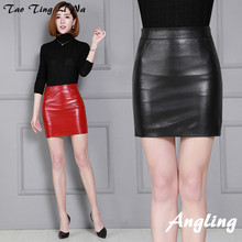 Women Autumn and Winter New Genuine Real Sheep Leather Skirt K72