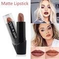 Mode 6 Farbe Nicht verblassen Matte Lippenstift Frauen Einfach Zu Tragen Lip Gloss Langlebig Batom Lippenstift Pudaier Make Up Kosmetik TSLM1 auf