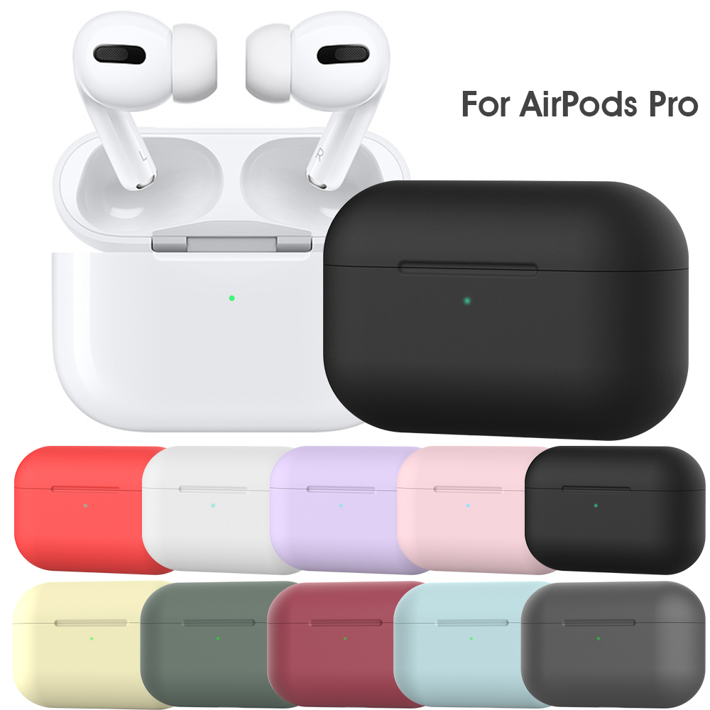 Silicone Case For Airpods Pro Case Soft Wireless Bluetooth Case For Airpod Pro Case Cover For Air Pods 3 Fundas Capa Coque Shell