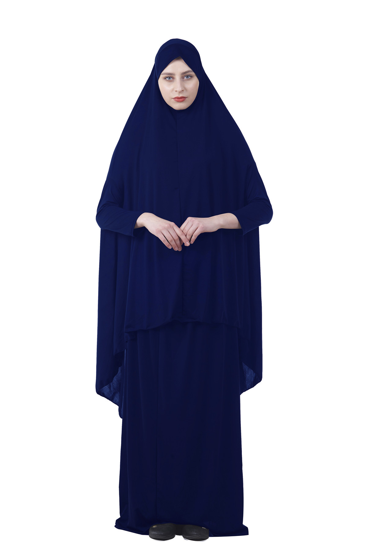 Image 3 - Formal Muslim Prayer Garment Sets Women Hijab Dress Abaya Islamic