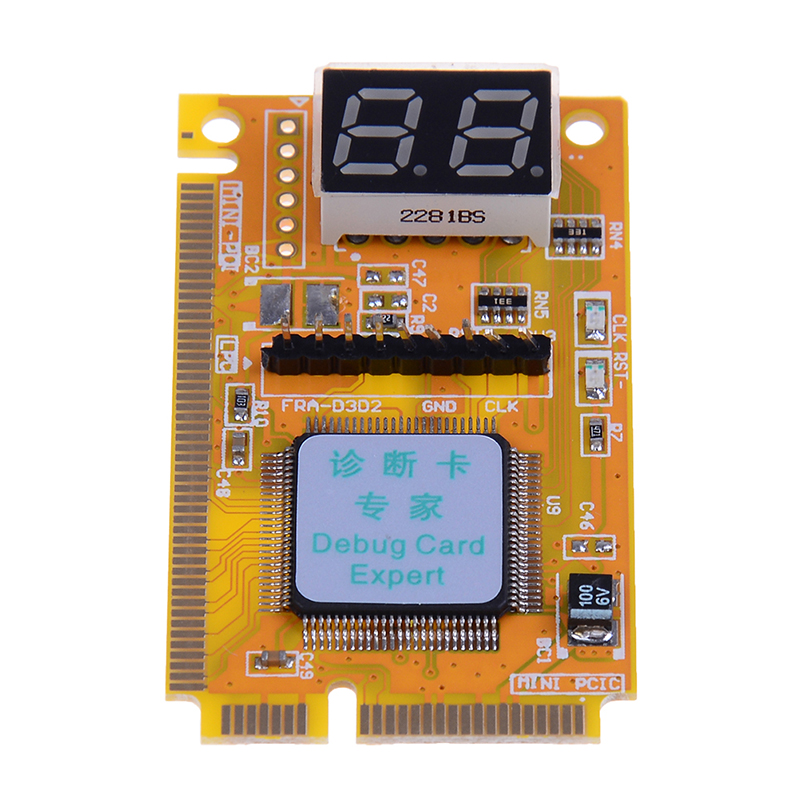 Mini PCI-E LPC PC Analyzer Tester POST Card Test For Notebook Laptop Hexadecimal Character Display 2