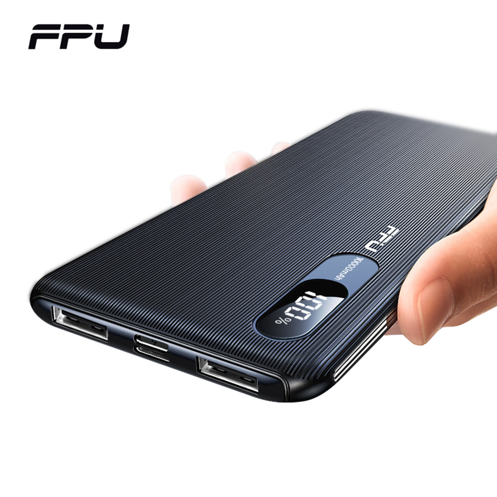 FPU Power Bank 10000mAh Portable Charger PowerBank 10000 MAh Slim USB PoverBank Phone External Battery Charging For Xiaomi Mi 9