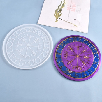 2021 New Crystal Epoxy Resin Mold Astrology Astrolabe Tray DIY Ornaments Silicone Mould image