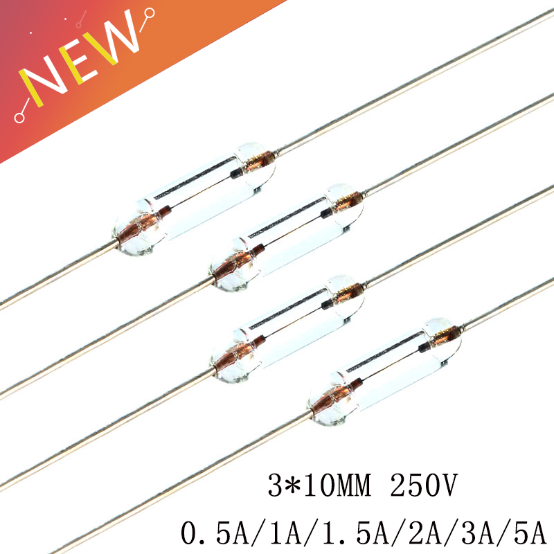 10Pcs Ceramic Tube Fuse Axial Leads 3.6*10Mm 0.5A Quick Fast Blow PB