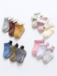 Socks Clothes-Accessories Sox Kids Anti-Slip Floor Ruffle Newborn Bebe Cheap Stuff Baby-Girl-Boy
