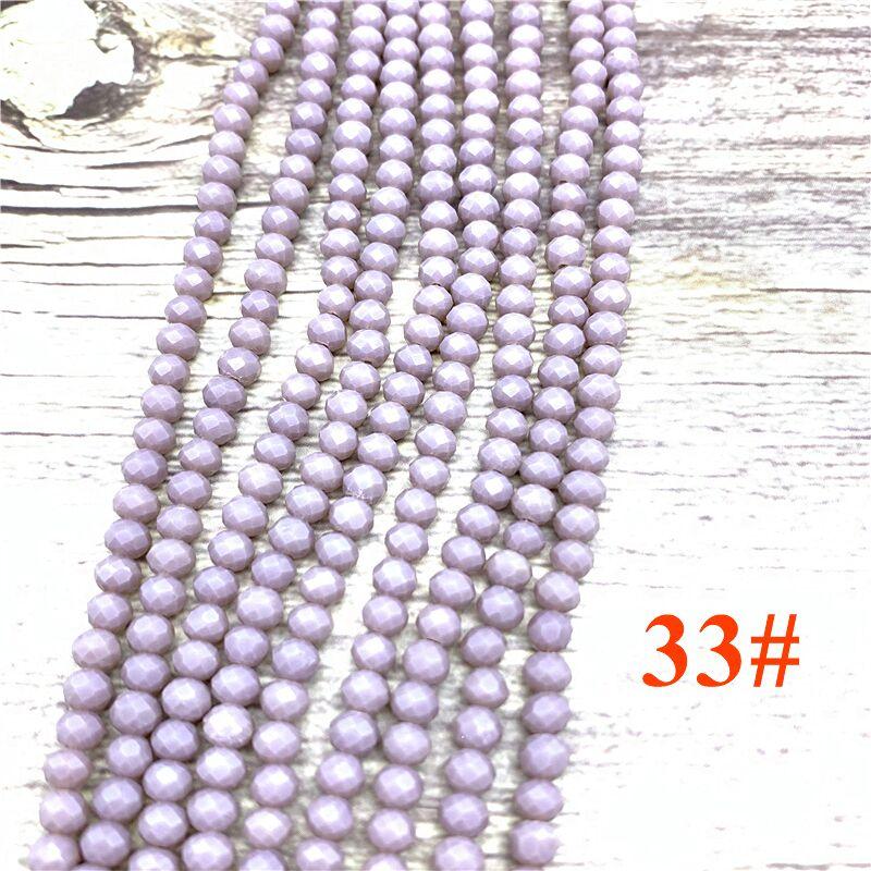 148 шт 2x3 мм/3x4 мм/4x6 мм хрустальные бусины Рондель граненые стеклянные бусины для изготовления ювелирных изделий DIY женский браслет ожерелье ювелирные изделия - Цвет: NO.33