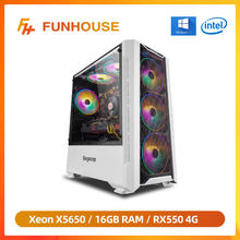 Funhouse – Intel Xeon X5650 6 cœurs 12Threads LGA 1366/RX550/RX560 4 go/8 go/16 go de RAM 240 go de SSD pour LOL