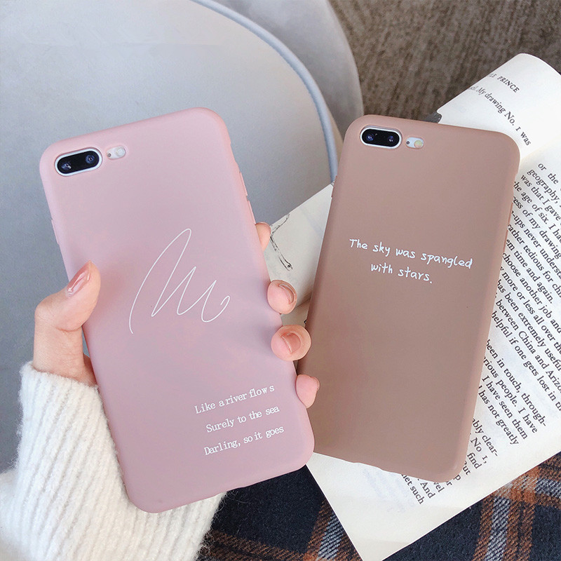 Für Iphone 7 8 Plus 6s LIEBE Muster Einfache Text Abdeckung Fall Für Iphone X XS 6 6s 7 7plus 8 <font><b>8plus</b></font> Weiche TPU Silikon Telefon Fall image