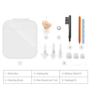 Image 5 - Laiwen Best Hearing Aids Digital 4/6/8Channels 12Bands CIC Digital Hearing Aid Invisible Ear Sound Amplifier Dropshipping