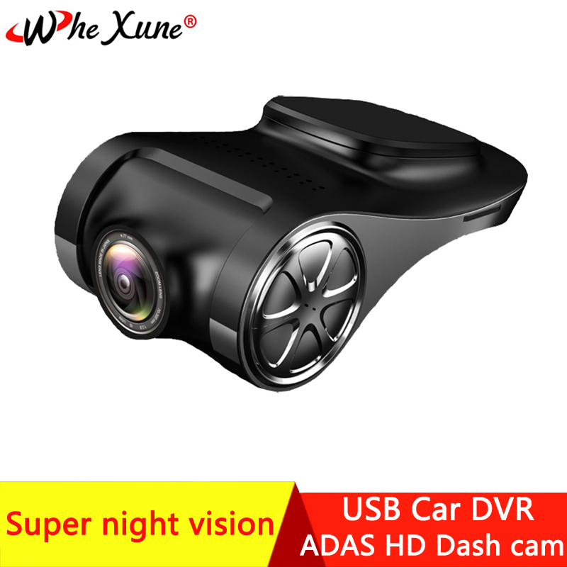 WHEXUNE Full HD <font><b>USB</b></font> <font><b>Car</b></font> <font><b>DVR</b></font> ADAS Mini Camera LDWS Super Night Vision Auto Digital Video Recorder Dash <font><b>Cam</b></font> for Android Multimedia image