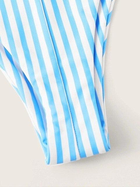 Gorące Bikini w paski zestaw kobiety bandaż strój kąpielowy 2020 nowy Push Up Micro strój kąpielowy brazylijskie stringi seksowne stroje kąpielowe kobiety Bikini