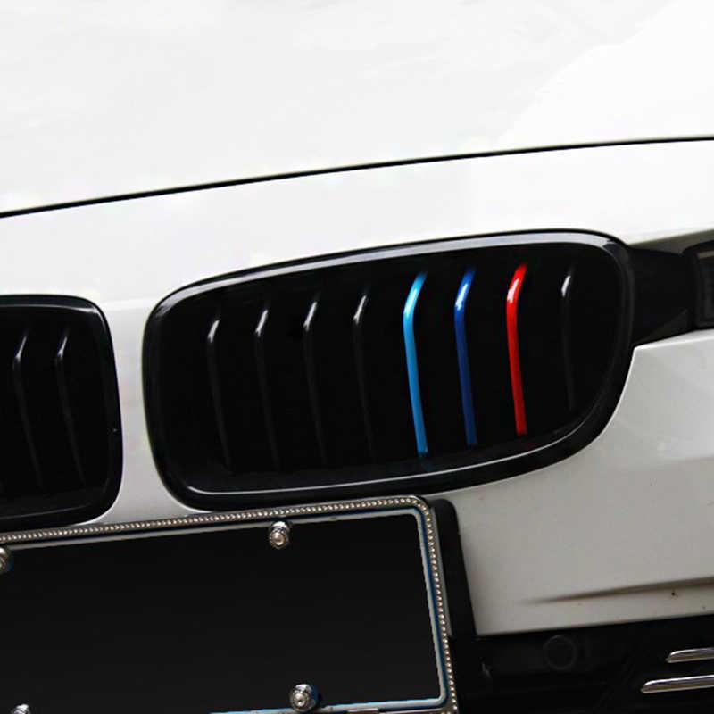 3PCS 200*5mm Rene Griglia di Sport Della Banda Per La Serie di BMW Auto Accessori Auto Sticker Decal 3 colori Rosso E Blu Profondo