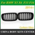 Высококачественный гриль из углеродного волокна для передних почек для BMW X5 X6 series F15 F16 2014 + xdrive