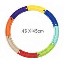 Free ship 8pcs color double-sided curved track compatible with wooden track BRIO track toy accessories children's toys 2 sizes