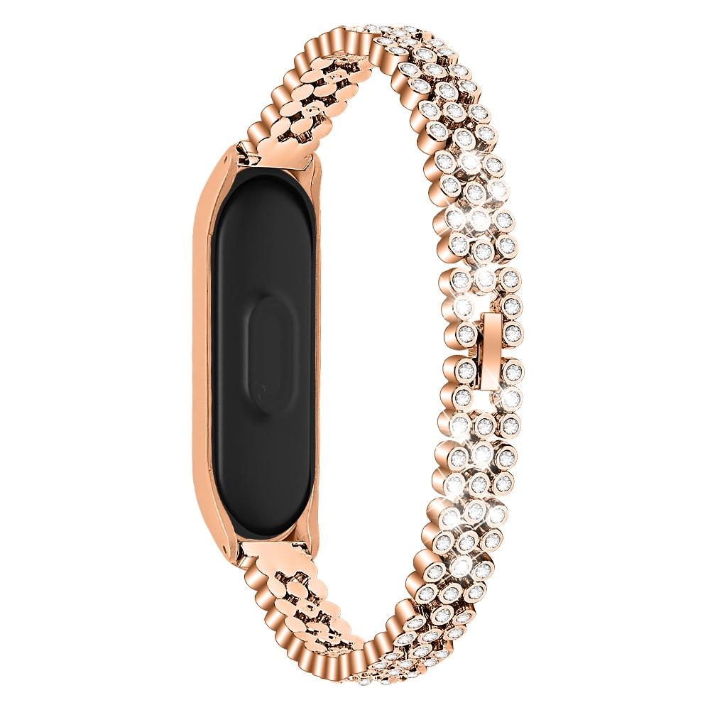 de metal de cristal pulseira inteligente para