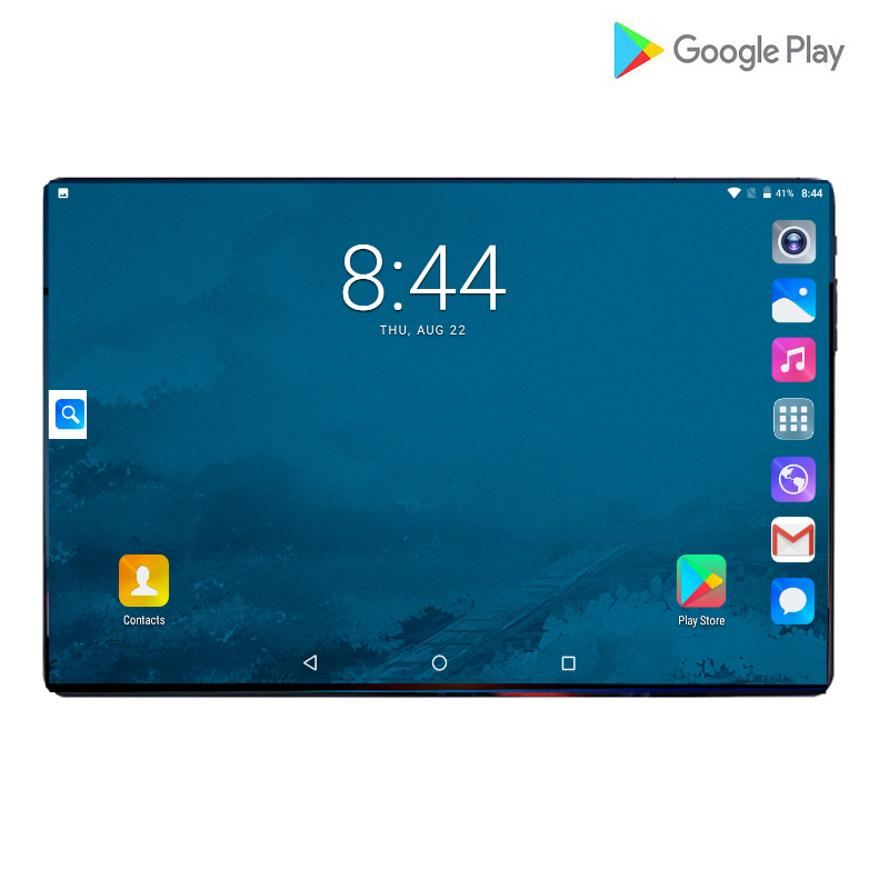 2019 Ultra Thin Android 9.0 Octa Core 10 Inch Tablet PC 6GB RAM 64GB ROM 8MP WIFI A-GPS 4G LTE 2.5D Tempered Glass IPS Tablets