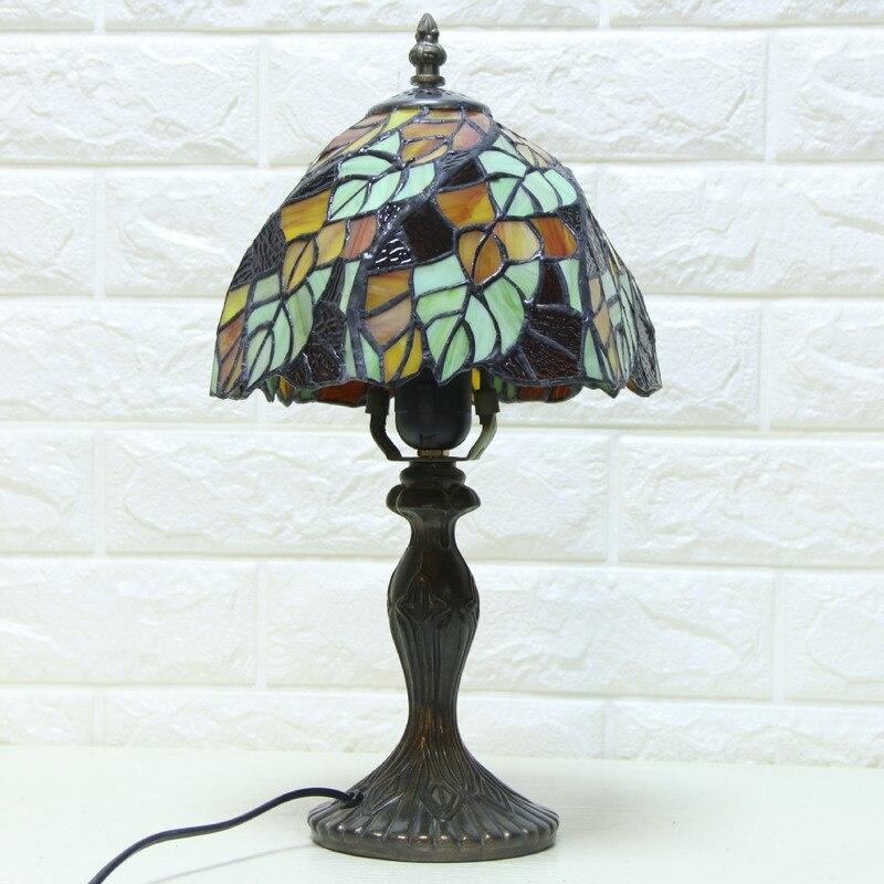 Tiffany Table Lamp E27 Baroque Bedroom Bedside Lamp Creative Fashion Retro Table Lamp