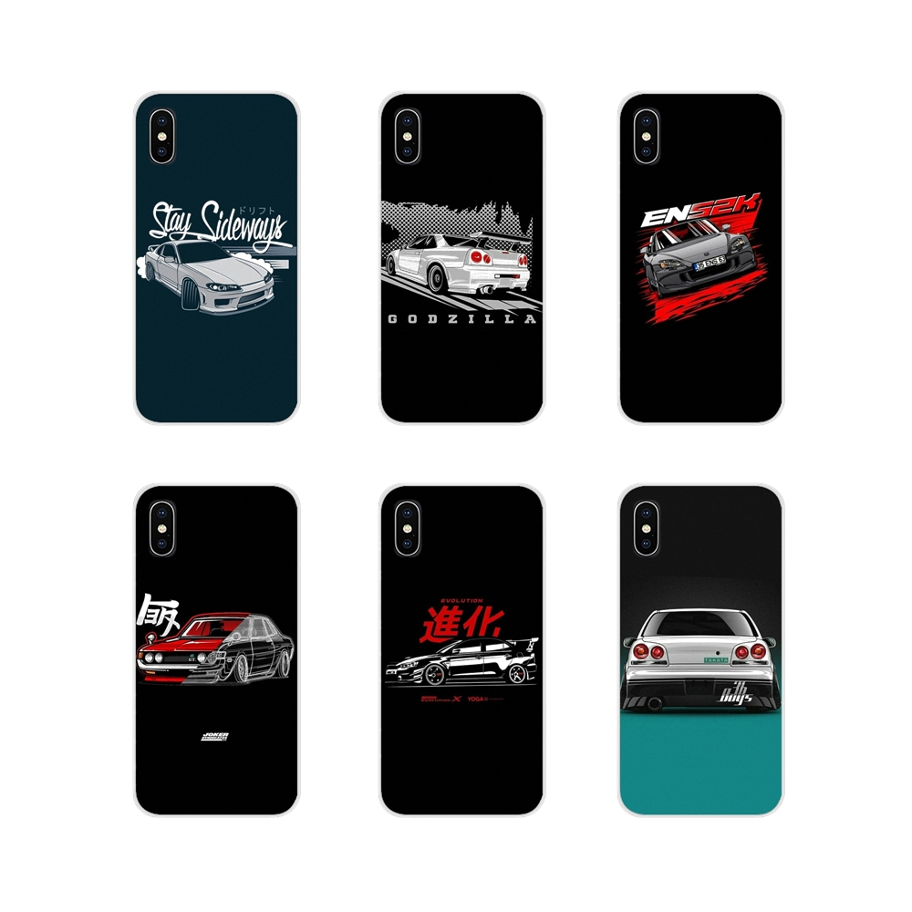 sports car jdm drift Accessories Phone Cases Covers For Samsung Galaxy S3 S4 S5 Mini S6 S7 Edge S8 S9 S10 Lite Plus Note 4 5 8 9