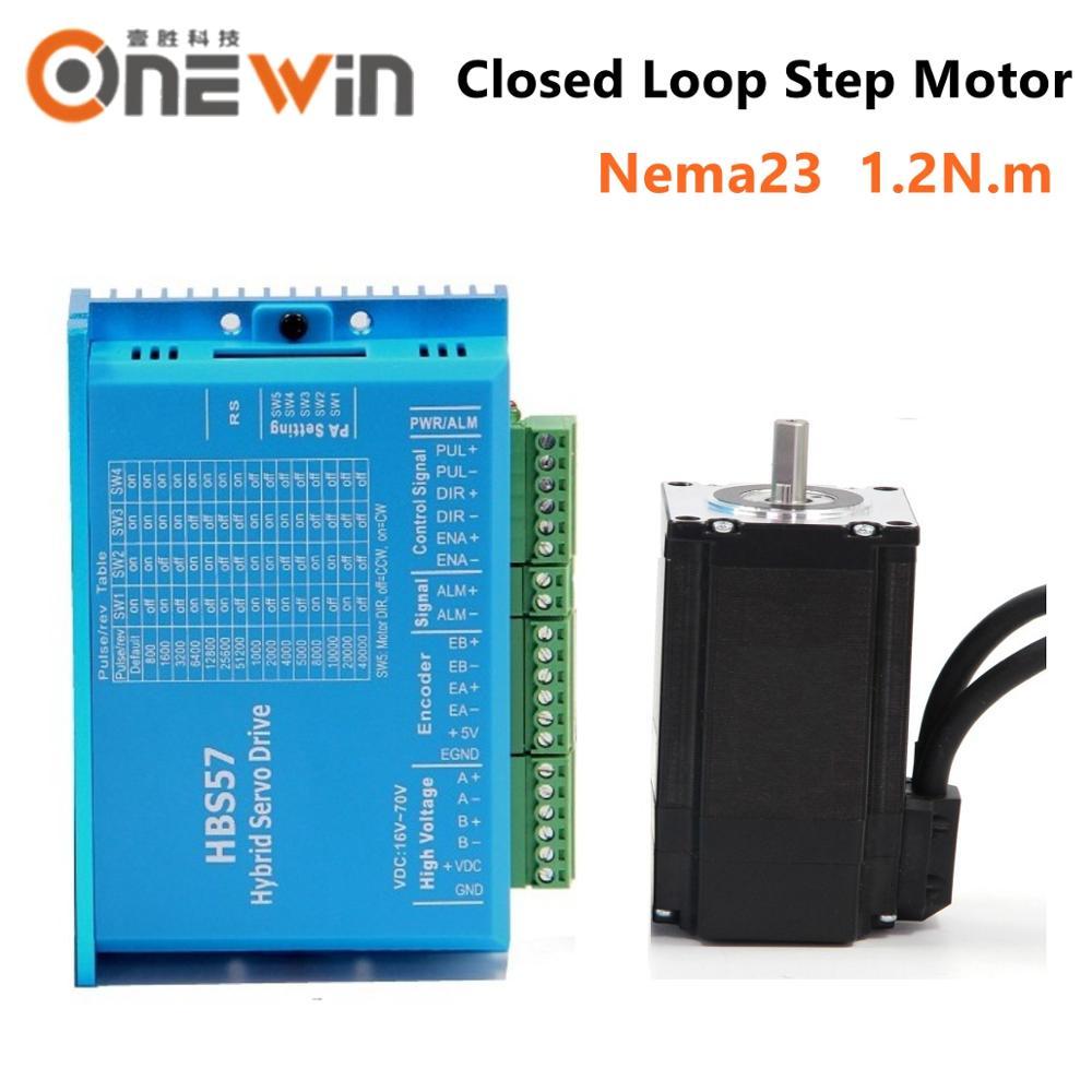 Closed Loop Motor Driver Treiber Stepper Motor HBS57 1.2Nm Nema23 Schrittmotor