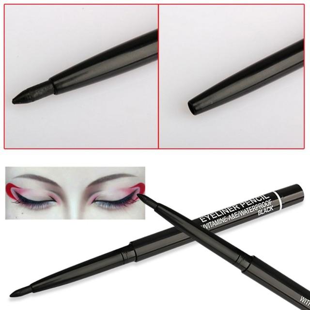 1Pcs Black Automatic Rotation Eyeliner Pencil Long Lasting Waterproof Liquid Eyeliner Pen Sweatproof Not Blooming Makeup TSLM2 4