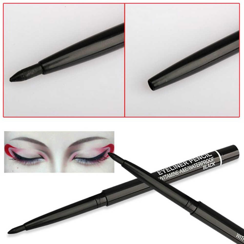 1Pcs שחור אוטומטי סיבוב אייליינר עיפרון לאורך זמן עמיד למים נוזלי אייליינר עט Sweatproof לא פורח איפור TSLM2
