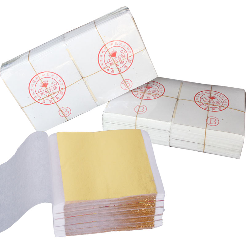 1000Pcs Art Craft Design Paper Imitation Gold Sliver Copper Leaf Leaves Sheets Foil Paper For Gilding DIY Craft Decoration 40