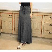 Women New 2019 Autumn Winter Skirt Long A Line Elegant Plaid  Modal Soft skirts Female Plus Size 6XL Loose Blends Skirts