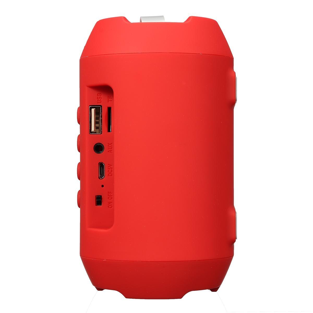 Tragbare Drahtlose bluetooth V 4,2 Lautsprecher Rechargable USB FM Radio Stereo Lautsprecher Sound System 3D Stereo Musik Lautsprecher
