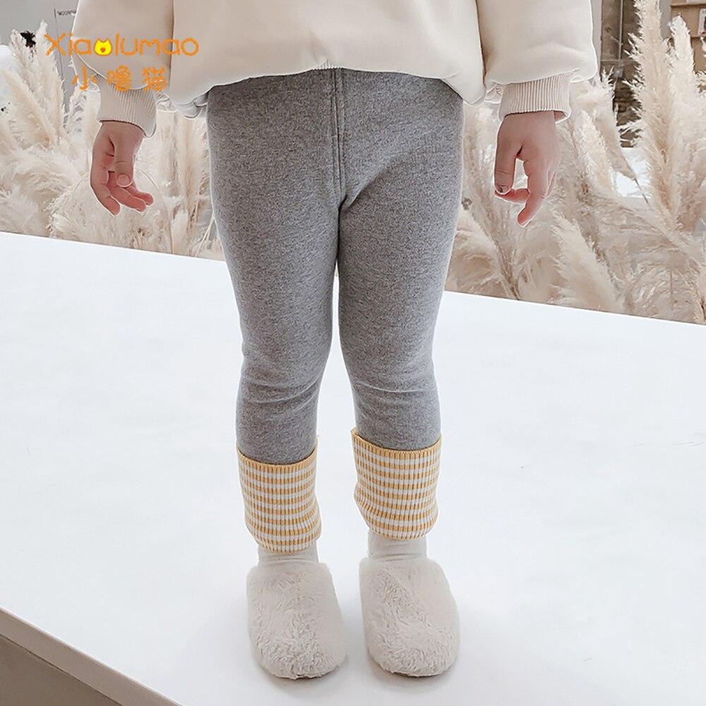 Купить детские леггинсы xiaolumao зимние утепленные флисовые детские