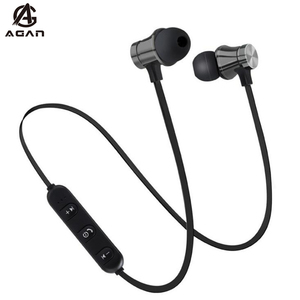 Bluetooth Earphone Magnetic Wireless Sport Headset For Oukitel Umidigi S5 Pro Blackview Elephone Cubot Doogee With Microphone(China)