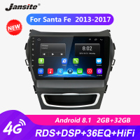 Jansite 9 Car Radio player For Hyundai Santa fe 2013 2017 autoradio Android 2G+32G Touch screen Mirror link players with frame