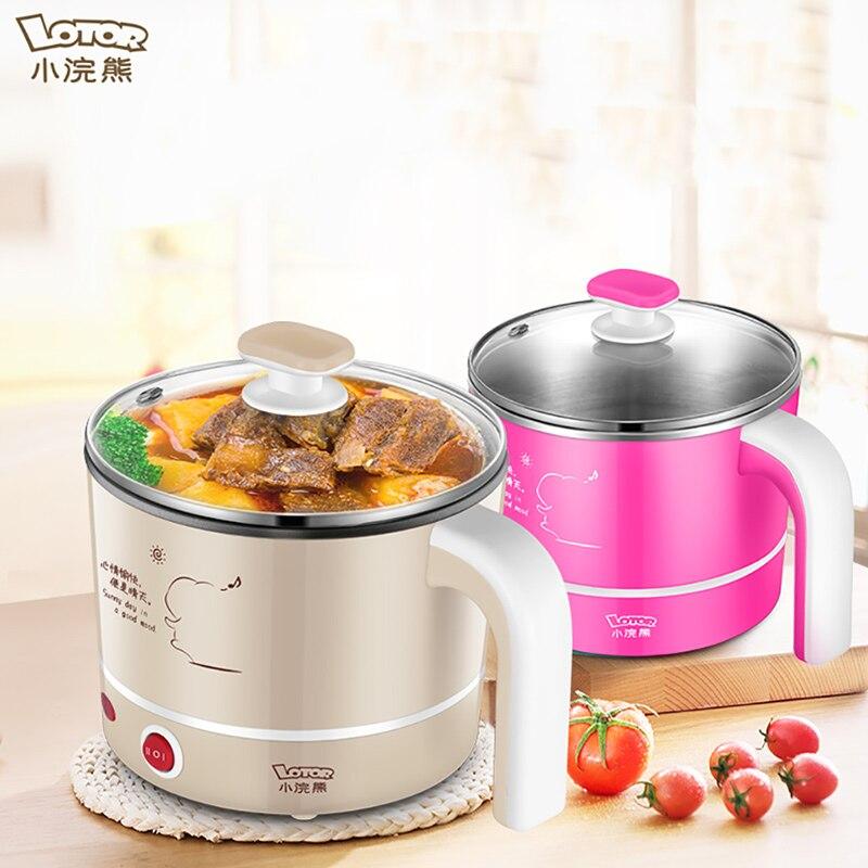 Electric Multi Cooker Mini Fry Pan Noodle Cooker Pot Hotpot Multicooker Kitchen Appliance Cooking Skillet Egg Steamer Soup 220V
