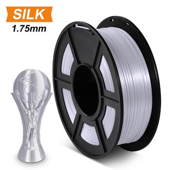 SUNLU SILK PLA Filament 1 75mm 1kg jedwabna tekstura PLA 3D drukarka Filament dobra wytrzymałość materiały do drukowania 3d tanie i dobre opinie CN (pochodzenie) solid 1pcs (1kg with spool) 330m 190-220 Degree C Silk Texture Good toughness Low Shrinkage 3D Printer